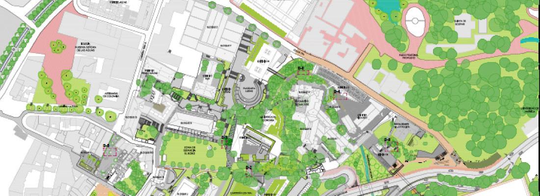 Plan maestro de paisaje campus uniandes