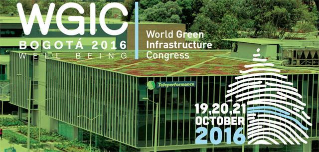 Conferencista – World green infrastructure congress Bogotá 2016 (19,20,21 de octubre)